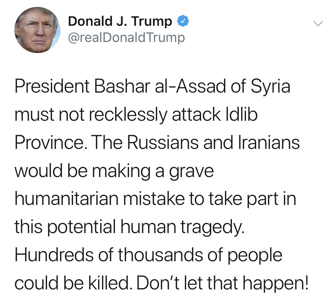 Трамп предупреждает Асада