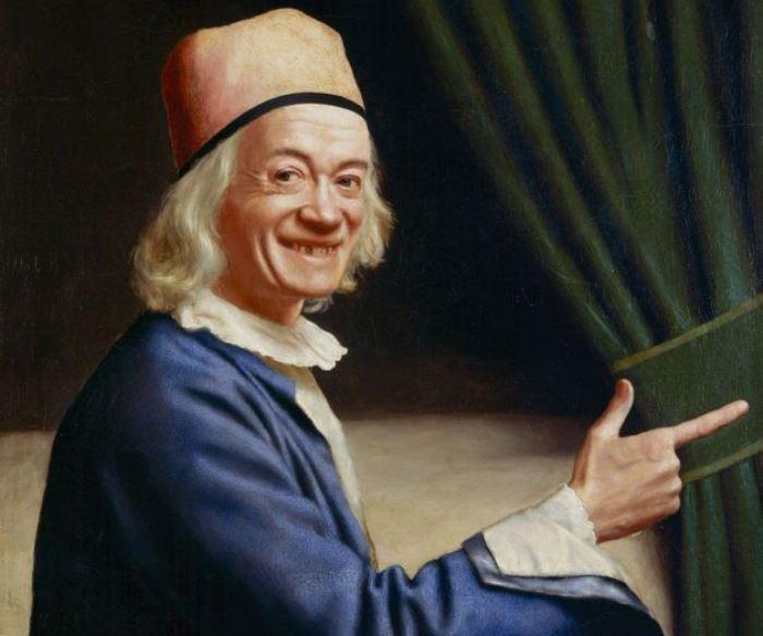 Жан-Этьен Лиотар. Автопортрет (Лиотар Смеющийся), 1770. Фрагмент. Фото: Интернет