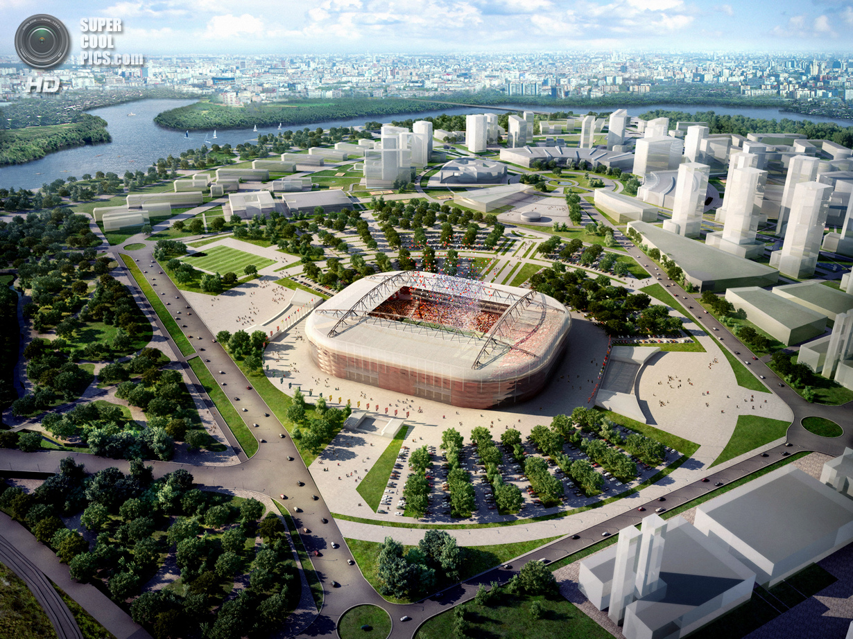 Россия. Москва. Футбольный стадион «Открытие-Арена». (Getty Images)