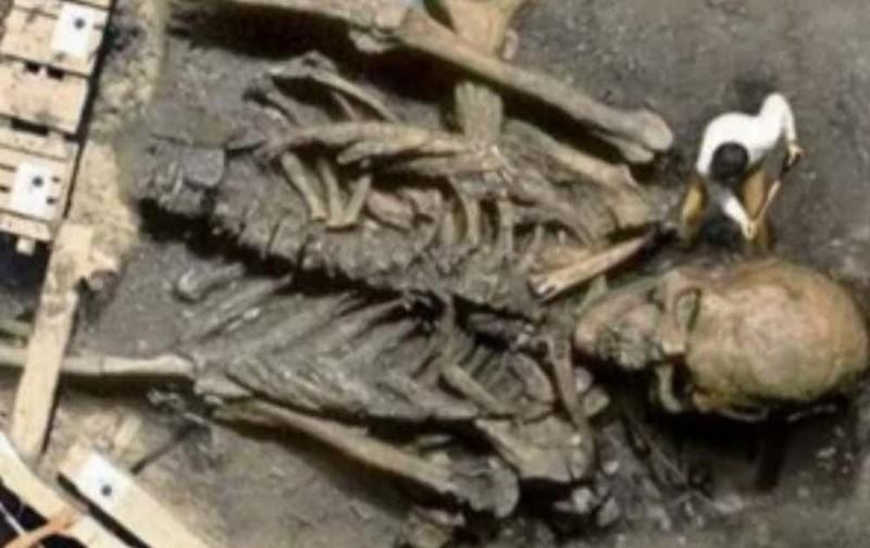 Скелет древнего гиганта вирусные фотографии, обман, фото, фотошоп