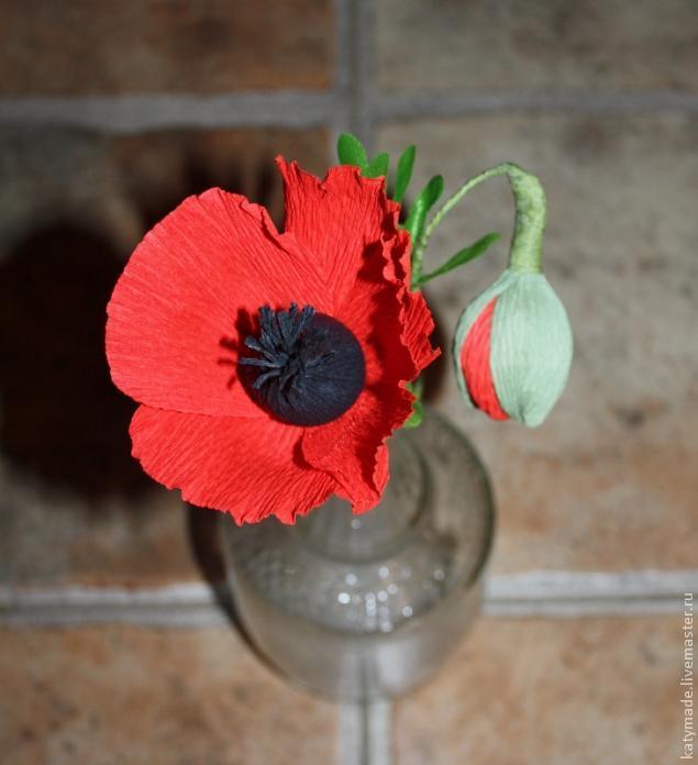 Как сделать мак цветок