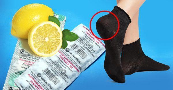 «Педикюрные носочки. Смешай глицерин, лимонный сок…» Справятся с болезненными мозолями и трещинами