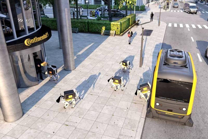 Дружелюбный робот-пёс доставит посылку прямо к вашей двери