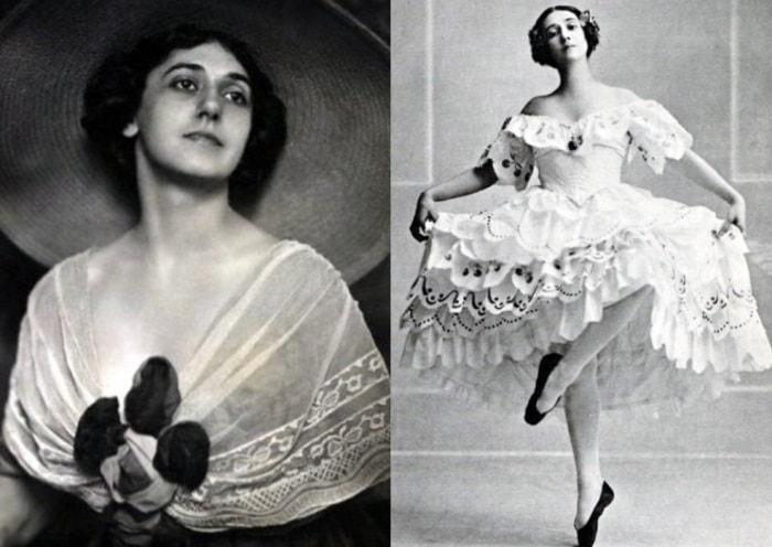 Тамара Карсавина. Фото 1911 и 1914 гг. | Фото: liveinternet.ru
