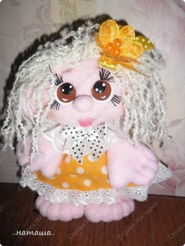 Игрушка, Куклы Шитьё: Куклята Пряжа, Пуговицы, Ткань. Фото 10