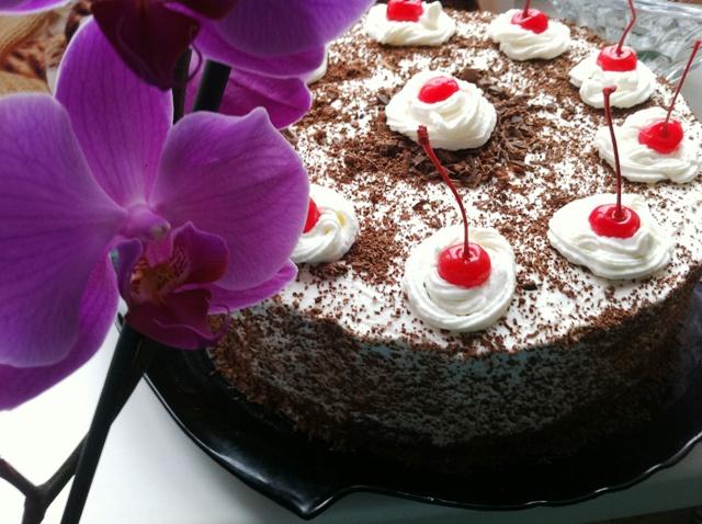"""Шварцвальдский вишневый торт (""""Черный лес"""").Фото-рецепт Кристинки."""