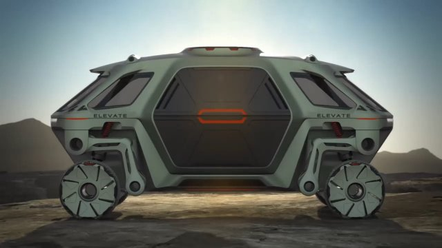 Hyundai Elevate — концепт шагающего колесного электромобиля