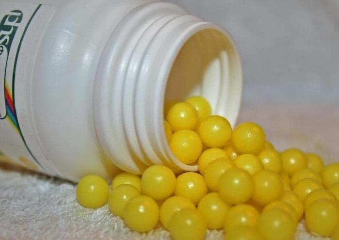 Эти вкусные и полезные витаминки в виде желтых шариков дети просто обожали и были готовы есть их в любом количестве.