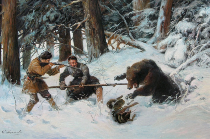 Русская геральдика. Медвежья охота