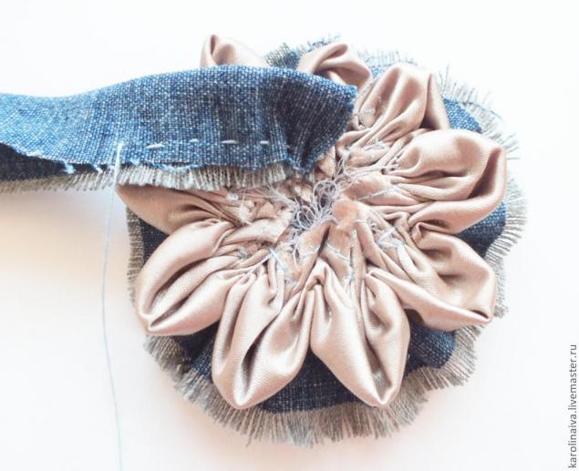 Бохо-бусы из джинсы
