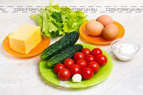 Ингредиенты для закуски Мухоморы