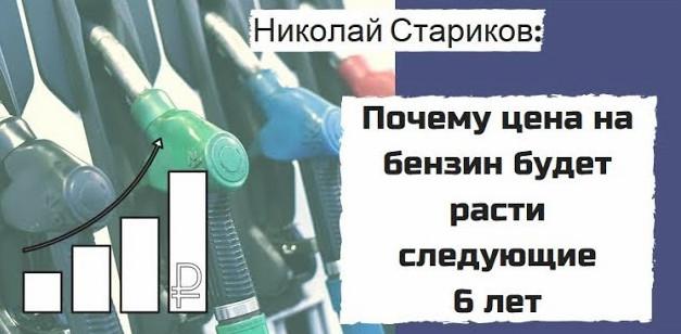 Николай Стариков: Почему цена на бензин будет расти следующие 6 лет