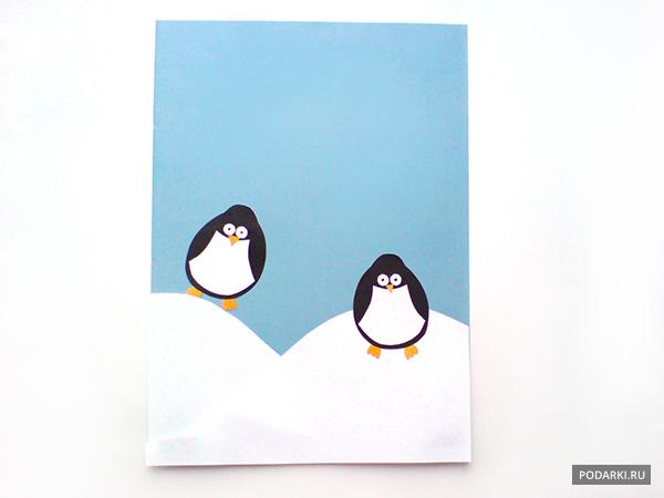 Открытка «Пингвины»