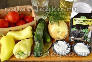 """Салат из огурцов и помидор """"Пальчики оближешь"""""""