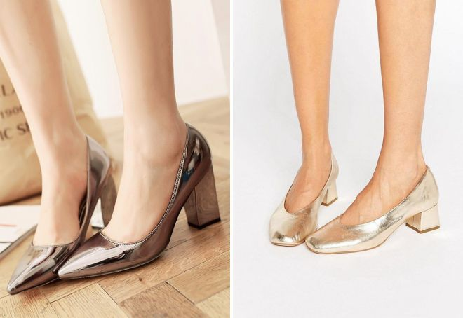 красивые туфли на толстом каблуке