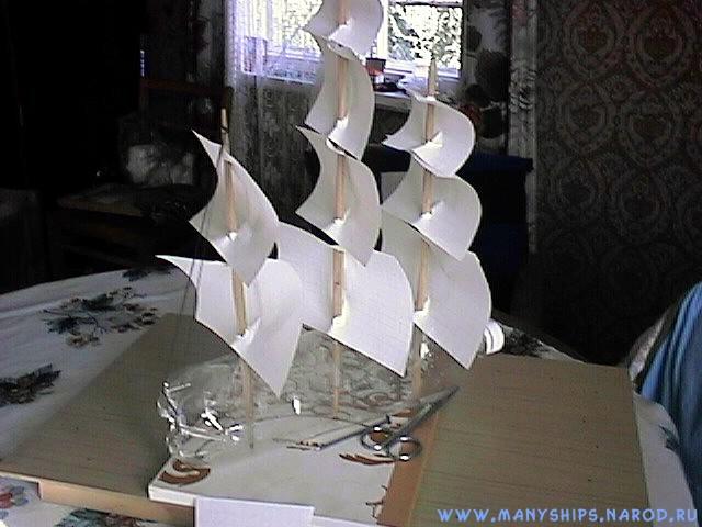 Корабль из бутылки своими руками 38