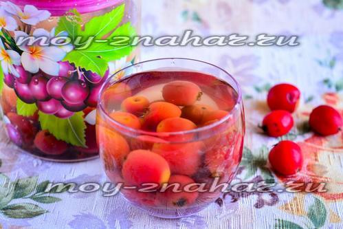 рецепт лечебного компота из боярышника на зиму