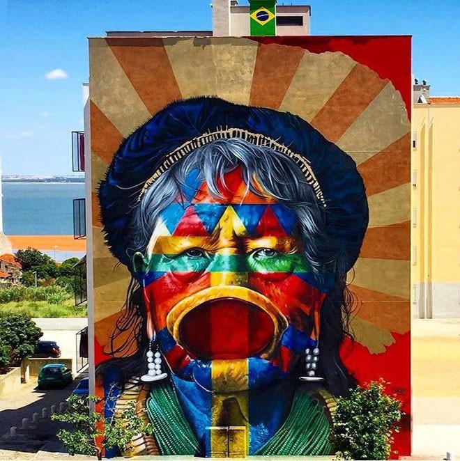 Kobra (Бразилия) в мире, граффити, интересное, искусство, подборка, стрит-арт, уличное искусство