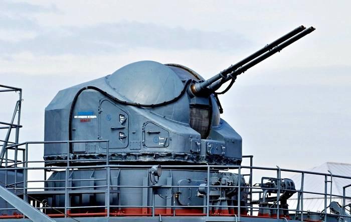 Корабельная артиллерийская установка АК-725. Инфографика