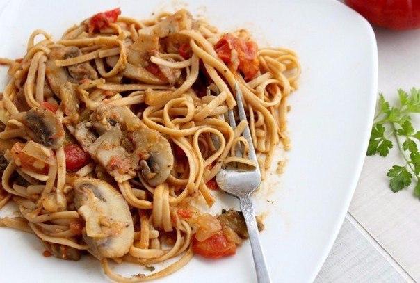 Спагетти с овощами и соевым соусом — Сытный и вкусный ужин!