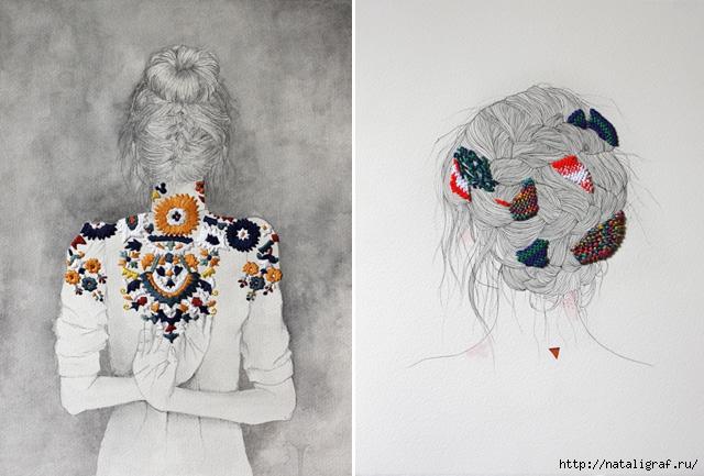 Потрясающая вышивка руками художника