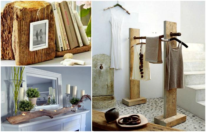 Вдохновляющая рустика: 18 идей использования натуральной древесины для декора дома и сада