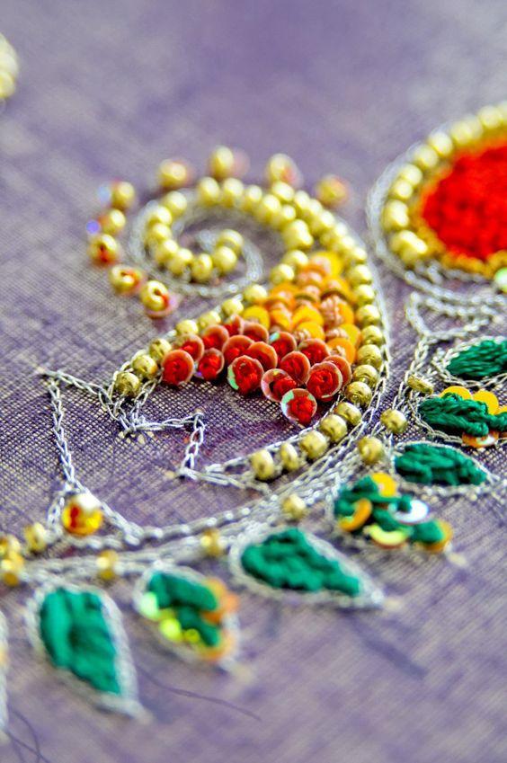 Шедевры вышивки — роскошные идеи вышивки пайетками. Схемы и идеи