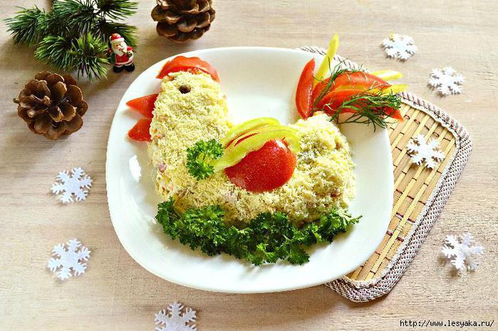 Новогодние рецепты салатов 2017 с