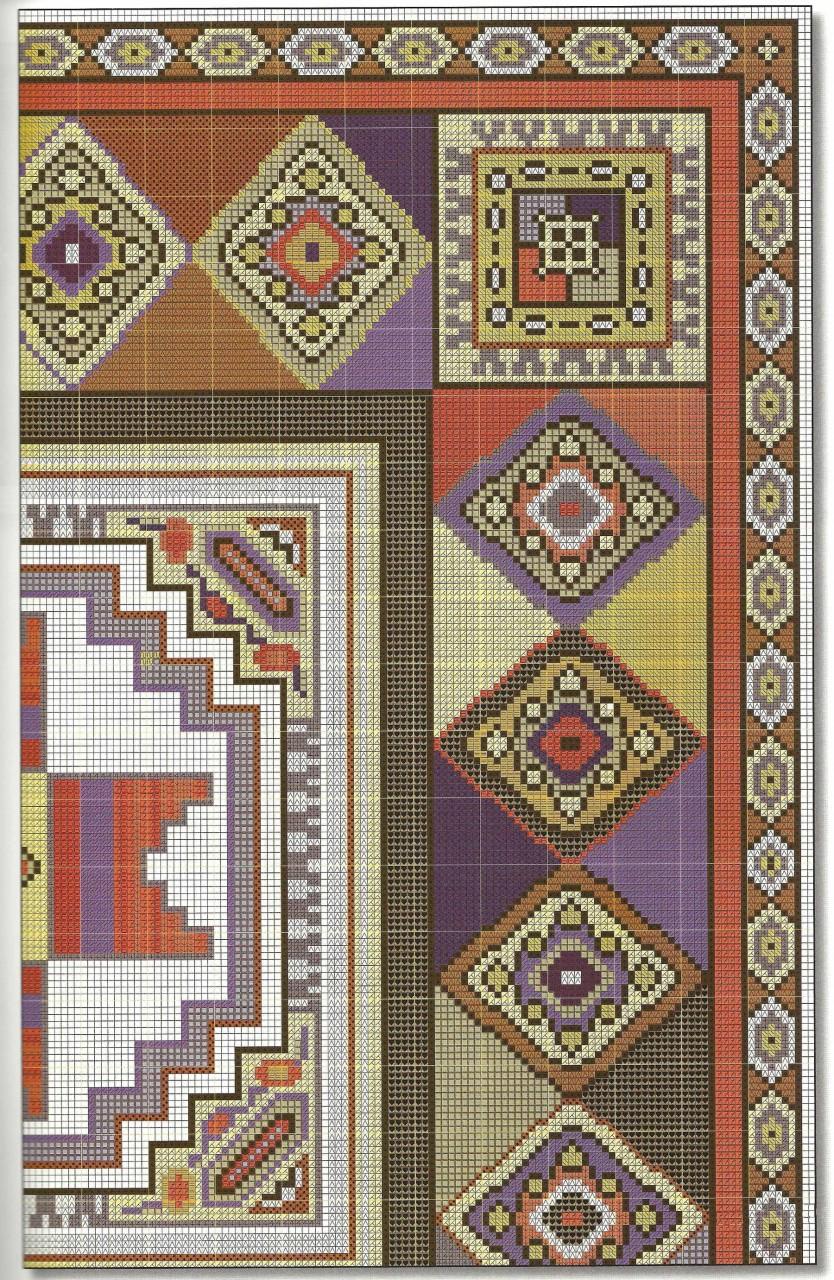 Подушки в восточном стиле - вышивка крестом схема 6