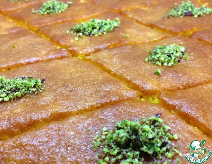 Рецепт: Пирог из манной крупы