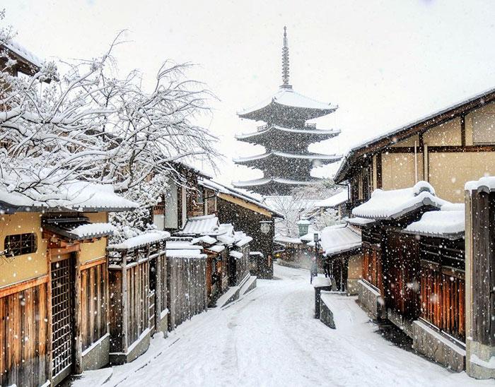 Волшебный Киото в снегу