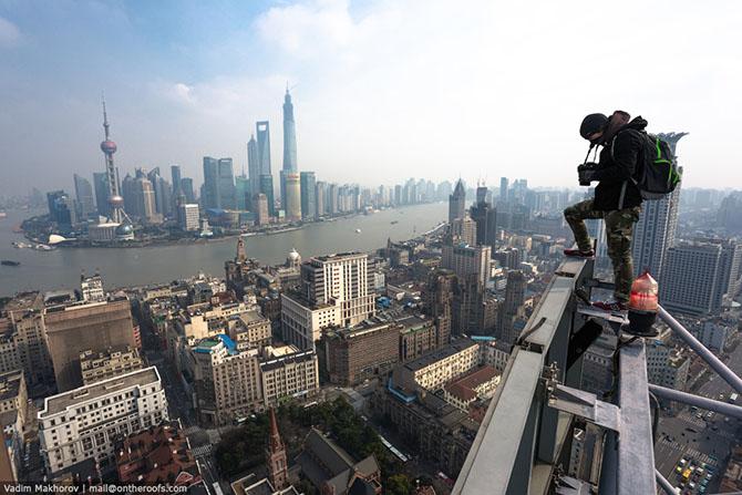 Невероятные снимки с крана Шанхайской башни
