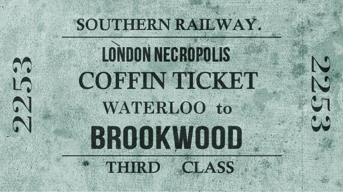 Билет третьего класса на поезд в Лондонский некрополь