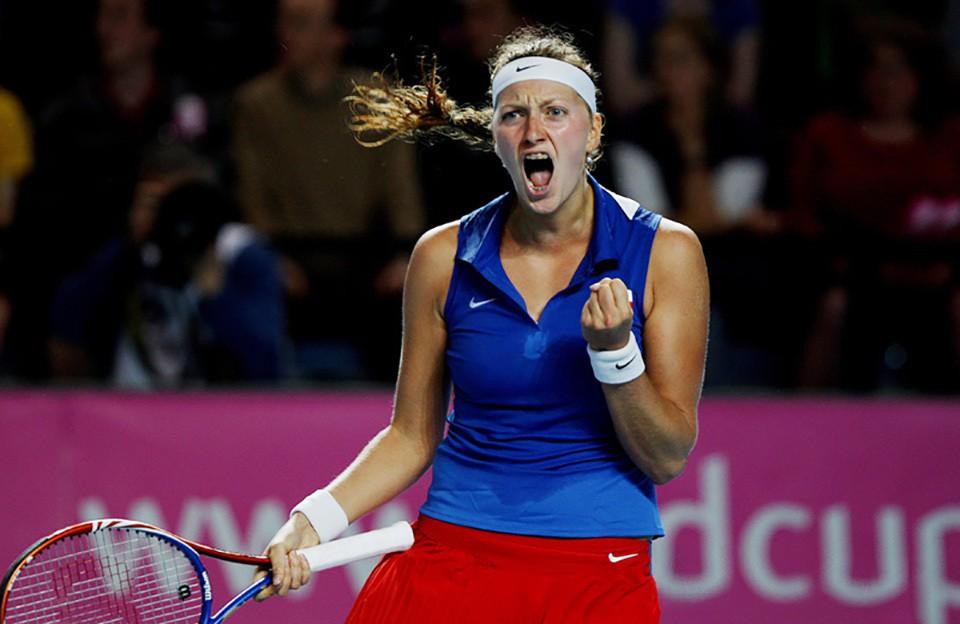 На чешскую теннисистку Квито…