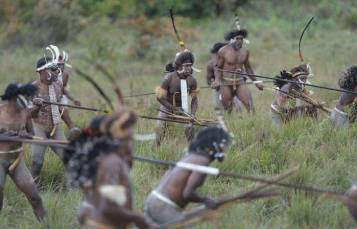 Основными занятиями мужчин племени Дани были: охота и война с соседними племенами.