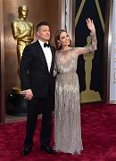 Анджелина Джоли и Брэд Питт на красной дорожке «Оскара 2014»