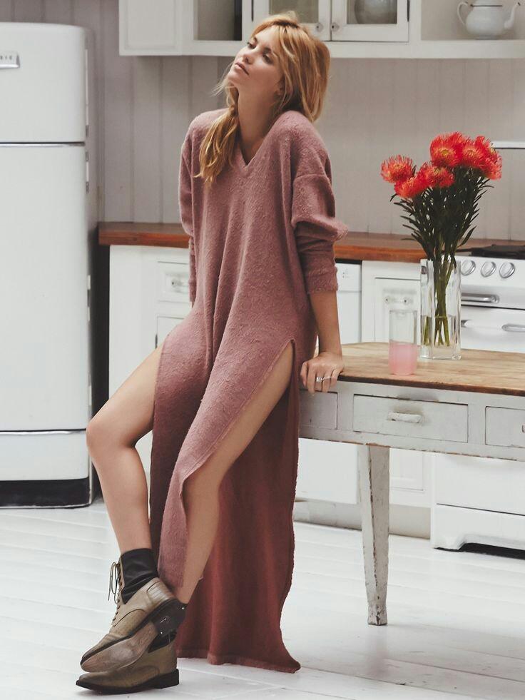 Носим стильно: Трикотажное платье