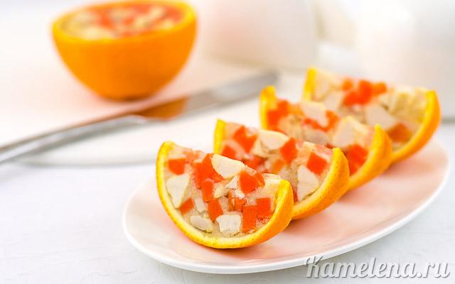 Куриная закуска в апельсинах