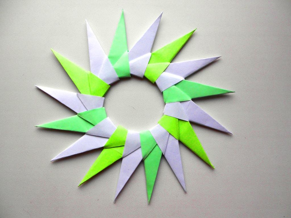 Оригами звезда схема - Орига…