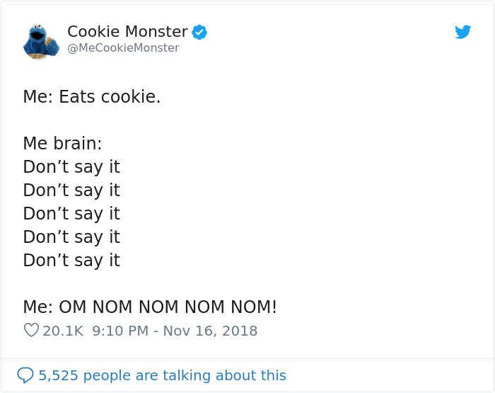 Turns Out Cookie Monster Has Twitter, Here Are His 25 Most Hilarious Tweets About Cookies