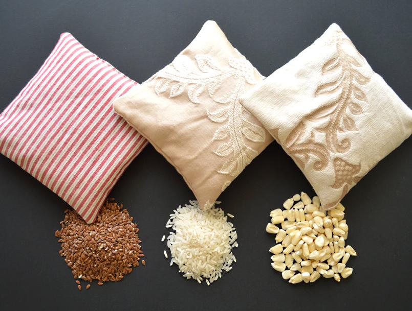 Как использовать мешочки с зерном против болей мышечных