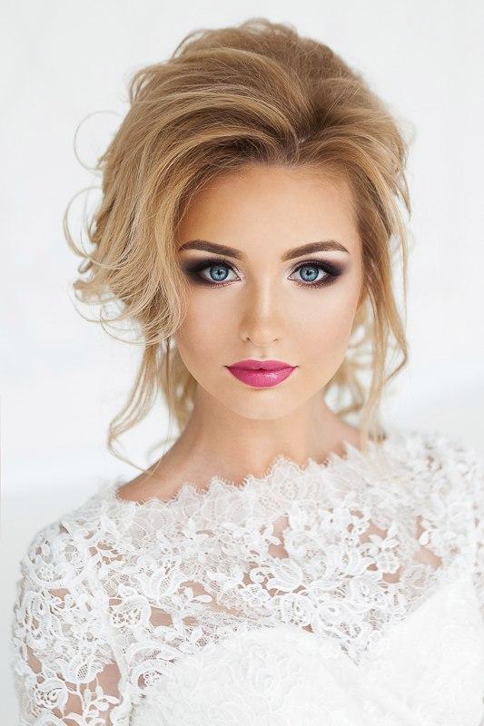 вечерний макияж и свадебные прически модные стрижки фото каталоги