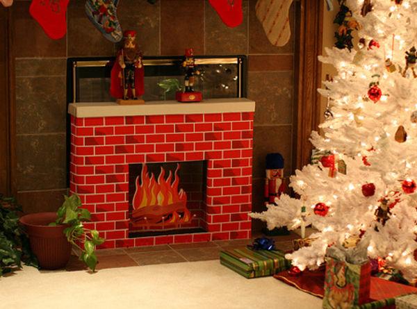 Новогодний декоративный камин своими руками пошаговая инструкция с фото