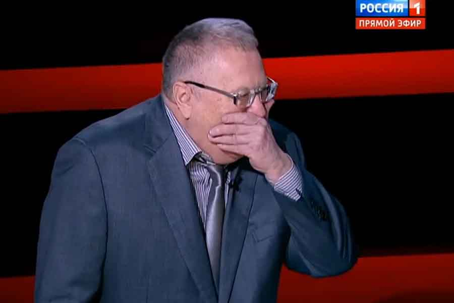 Жириновский рассказывает анекдот про унитаз