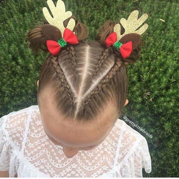 15. Олененок волосы, праздник, прическа, рождество
