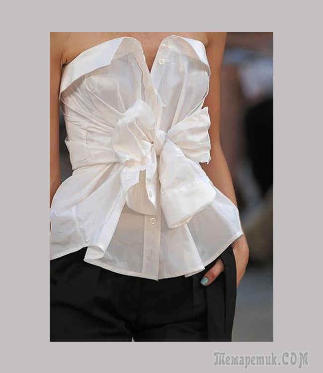 Необычные способы перешить мужскую рубашку