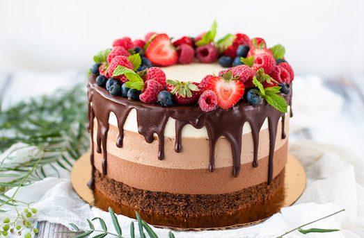 Три шоколада — эффектный и вкусный десерт