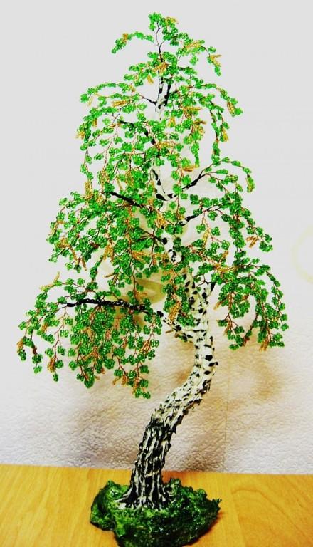 Картинки деревьев из бисера своими руками