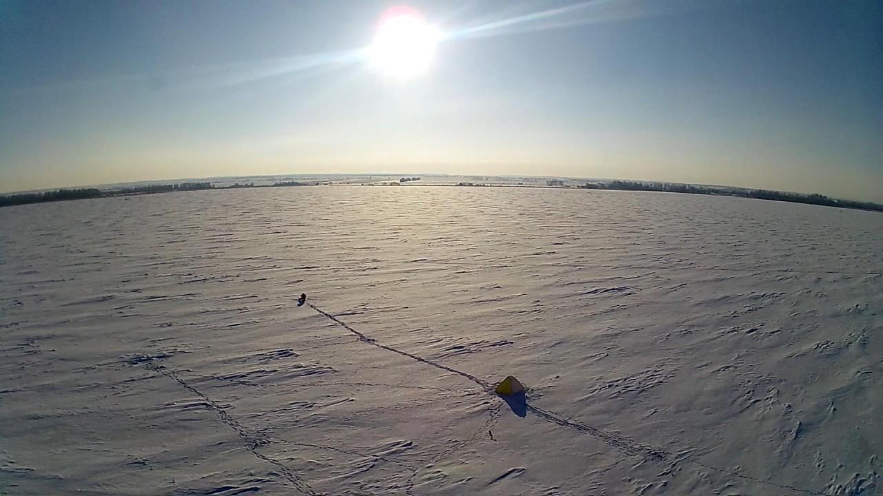 Зимняя рыбалка. Кутулук с.Беловка (Аэросъемка)