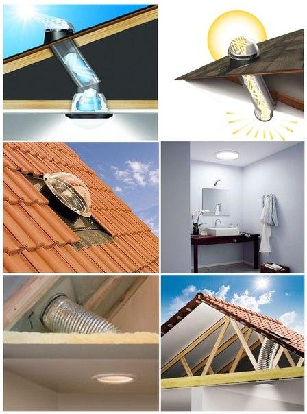 Освещение темных мест дома с помощью световодов